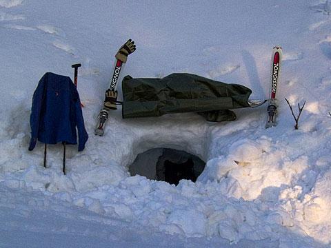 マイ雪洞の完成