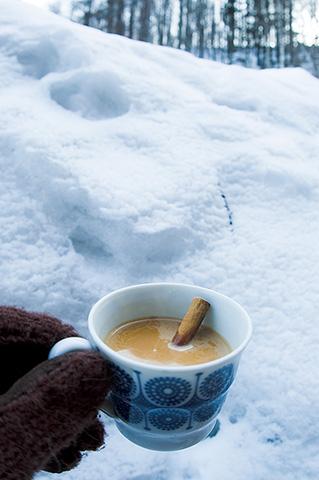 この冬の定番、ジンジャーチャイ