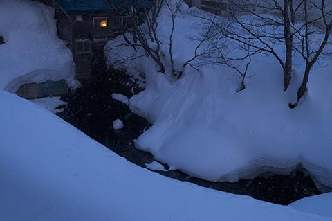 スキーの後は温泉です