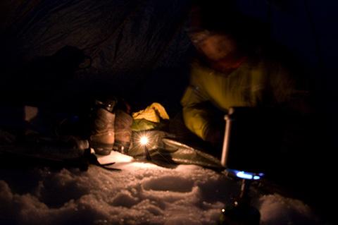 午後になって山に入ったから、あっという間に夕げの時間。