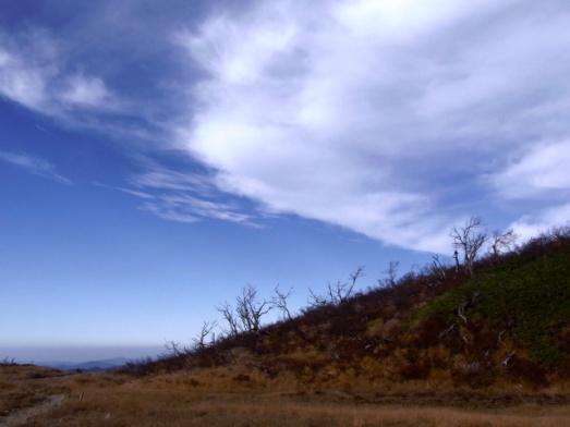 栗駒山の青い空